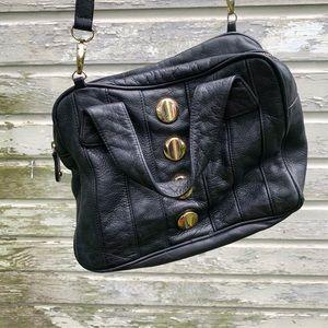 Bryna Nicole | Genuine Leather Gold & Black Purse
